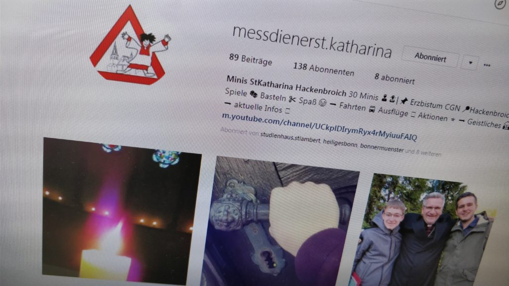 Instagram-Account @messdienerst.katharina