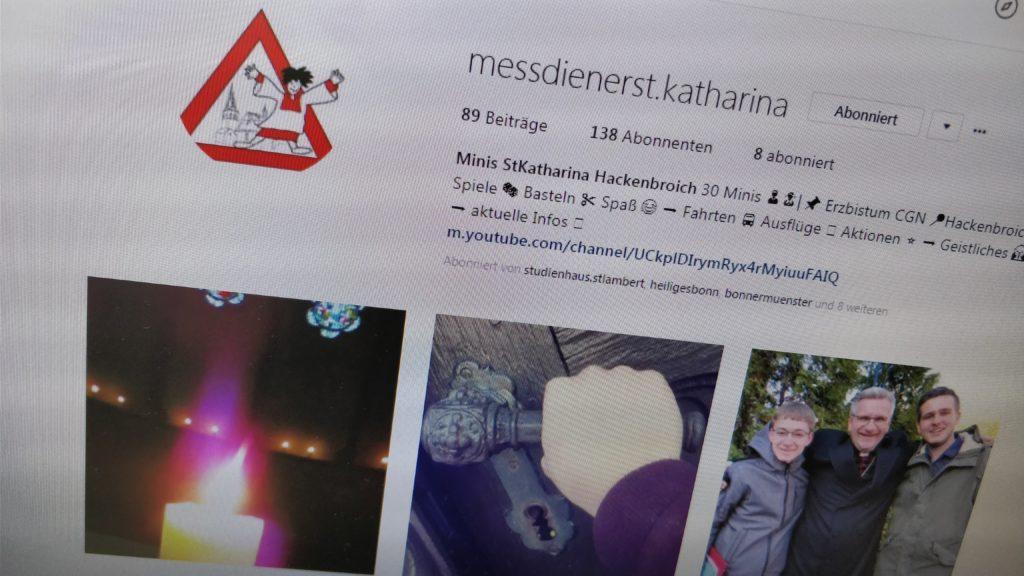 Instagram-Account @messdienerst.katharina