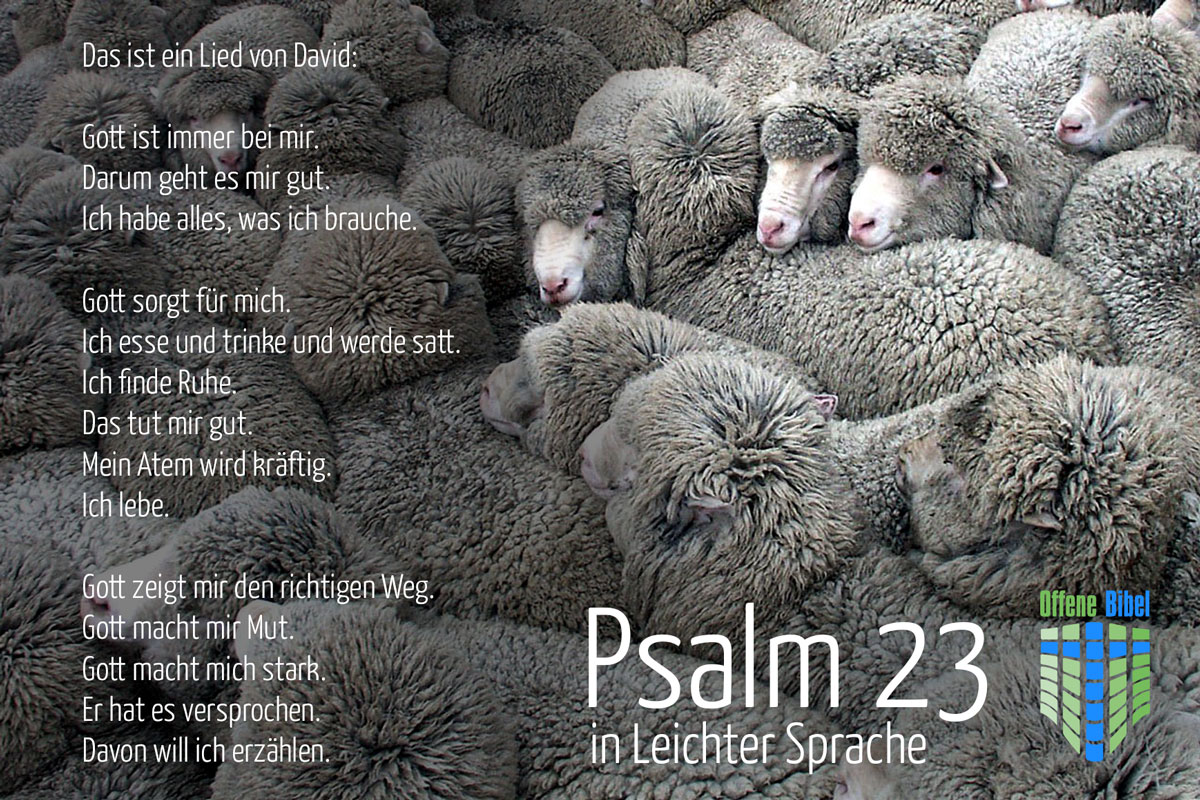 Psalm 23 in Leichter Sprache